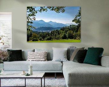 Panorama Chiemgauer Alpen van Peter Baier