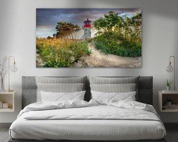 Leuchturm Gellen am Strand von der Insel Hiddensee von Fine Art Fotografie