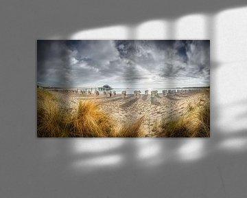Timmendorfer strand aan de Oostzee met pier en theehuis van Fine Art Fotografie