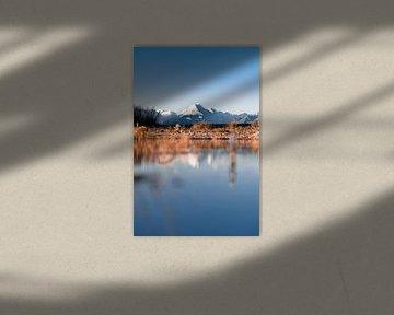 Beruhigende Bergspiegelung in Neuseeland von Niels Rurenga