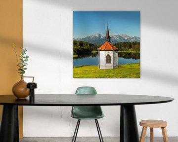 Kapelle am Hergratsrieder See, Bayern, Deutschland von Markus Lange
