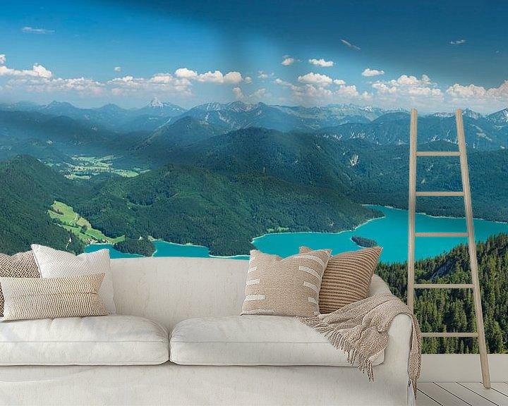Beispiel fototapete: Walchensee mit Karwendelgebirge, Bayern, Deutschland von Markus Lange