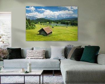 Geroldsee und Karwendelgebirge im Sommer, Bayern, Deutschland von Markus Lange