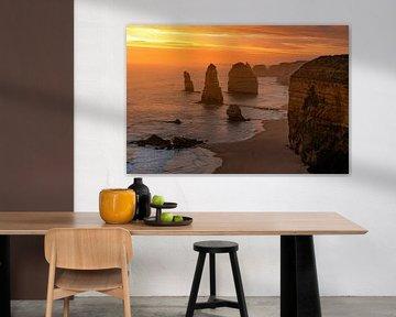12 Apostel bei Sonnenuntergang Australien von Niels Rurenga