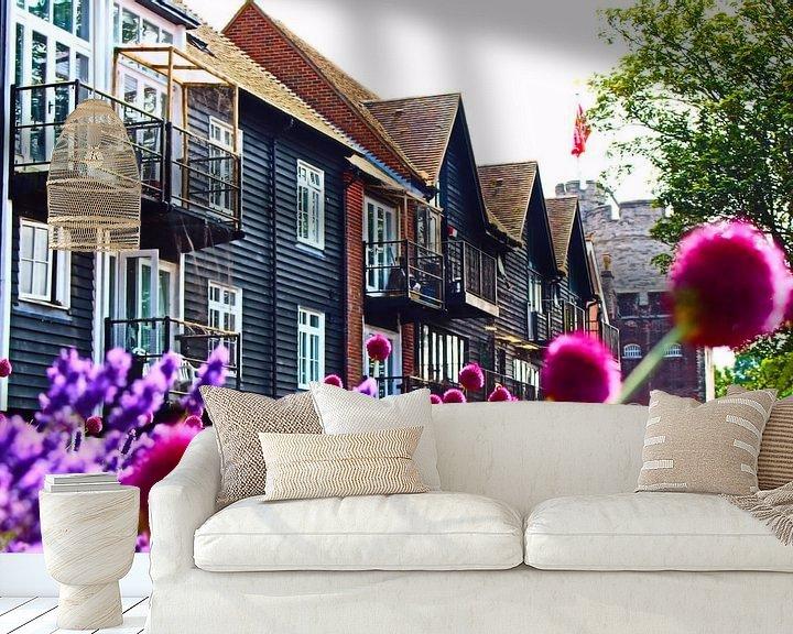 Sfeerimpressie behang: Briljante zomer - Canterbury, Engeland van Loretta's Art