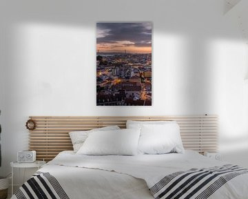 Sonnenuntergang in Lissabon (länglich)