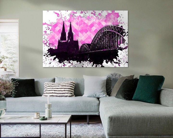 Beispiel: Köln Pop Art pink von Michael Bartsch
