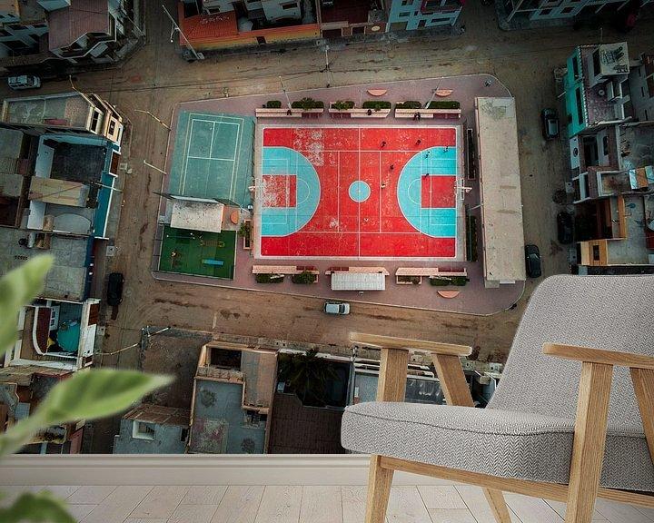 Beispiel fototapete: Sportfeld von Nizam Ergil
