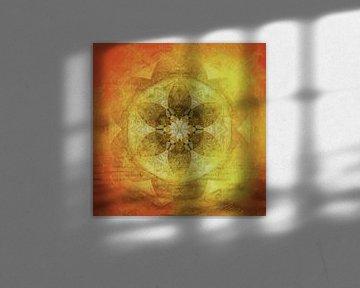 Mandala coucher de soleil sur la mer sur Sabine Wagner