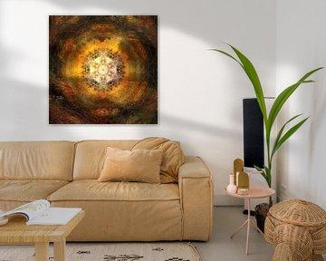 Mandala Blumenwiese im Sonnenuntergang von Sabine Wagner