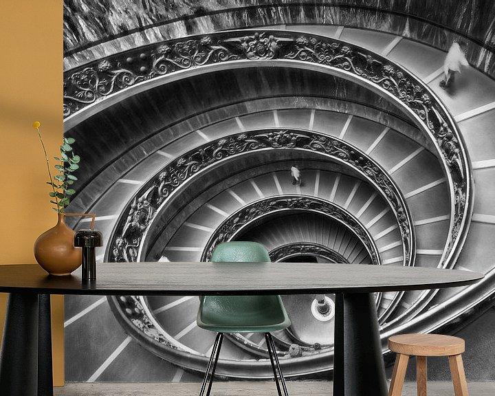 Beispiel fototapete: Wendeltreppe Vatican von Marcel van Balken