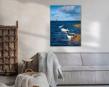 Boote auf der Ostsee auf der Insel Møn in Dänemark von Rico Ködder