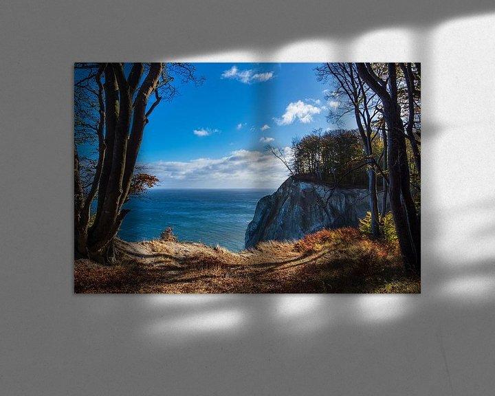 Beispiel: Kreidefelsen an der Ostseeküste auf der Insel Moen in Dänemark von Rico Ködder