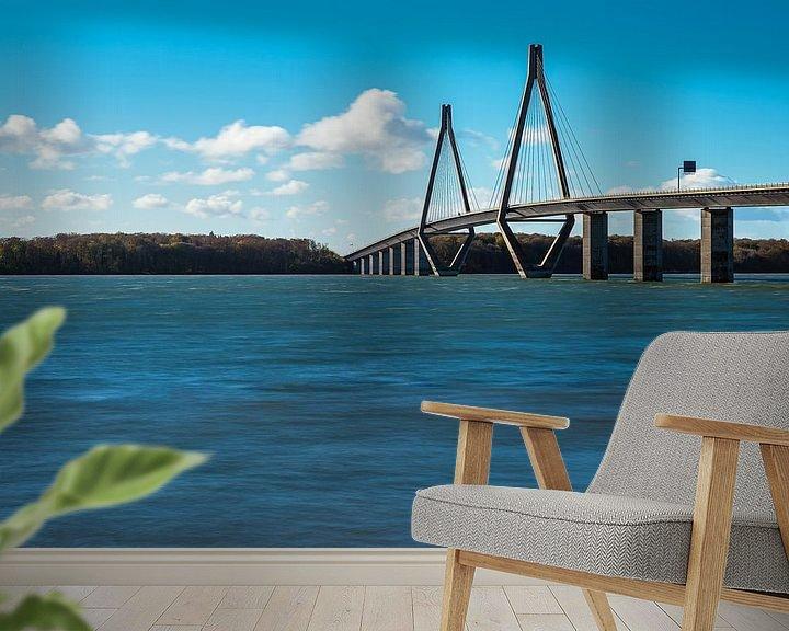 Beispiel fototapete: Eine Brücke zwischen Seeland und Falster in Dänemark von Rico Ködder