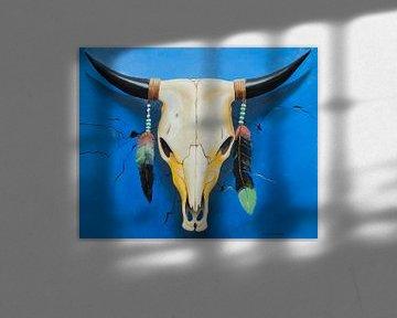 Stierschädel-Ölgemälde von David Soekana
