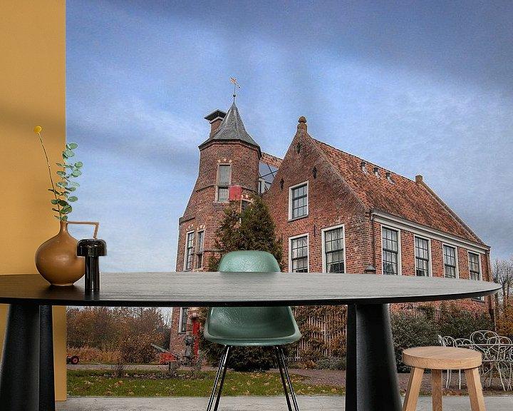 Sfeerimpressie behang: Burcht Wedde van Martin Albers Photography