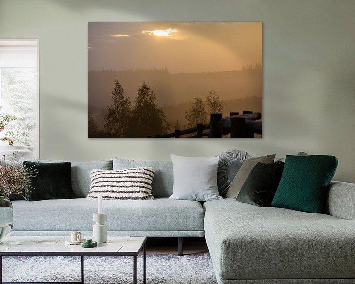 Sfeerimpressie: gouden lucht van Tania Perneel