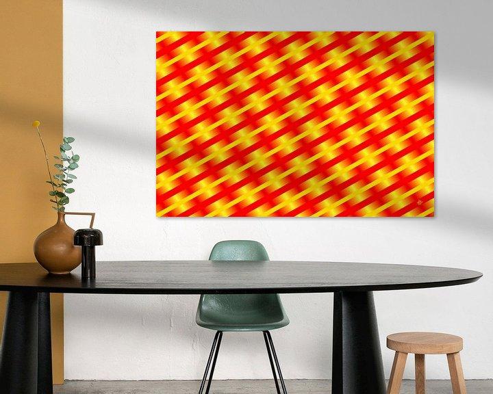 Sfeerimpressie: Geometric composition #12 van Jan Everink