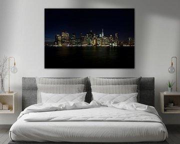 Manhattan Skyline van Irene Lantman