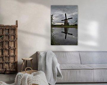 Kinderdijk, Alblasserdam, Nederland - Molens erfgoed van Maurits Bredius