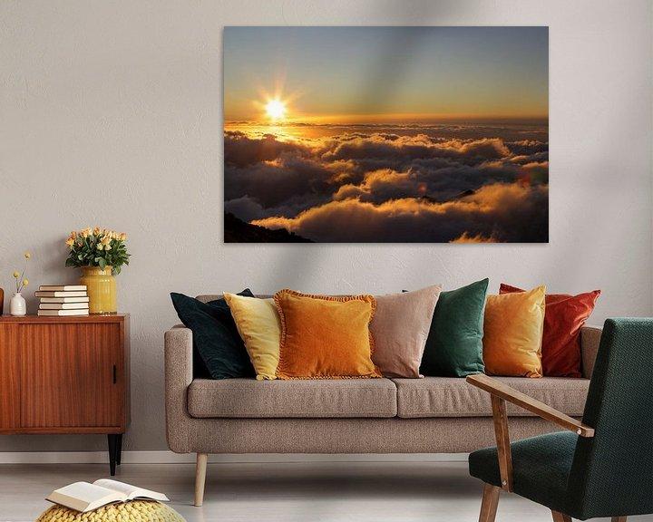 Impression: Madère - Lever de soleil au-dessus des nuages sur Tobias Majewski