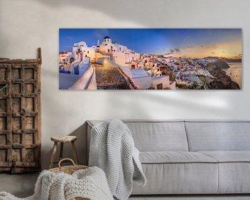 Ochtend op het eiland Santorini in de Middellandse Zee in Griekenland van Fine Art Fotografie