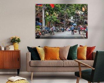 Stadsleven Vietnam van Jelmer Laernoes