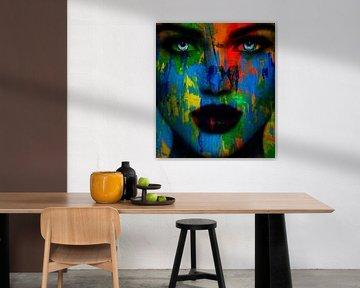 Just Face Abstrakt Game - Colors 500 von Felix von Altersheim