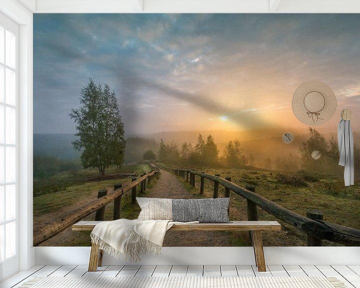 Sfeerimpressie behang: Zonsopkomst bij Kwintelooijen van Max ter Burg Fotografie