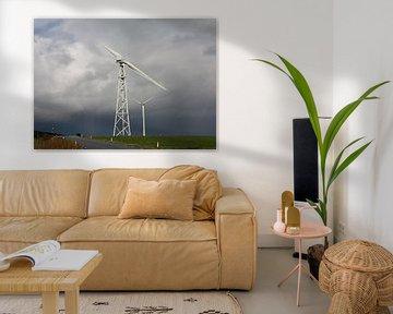 Windmolens bij Eemshaven van Pim van der Horst