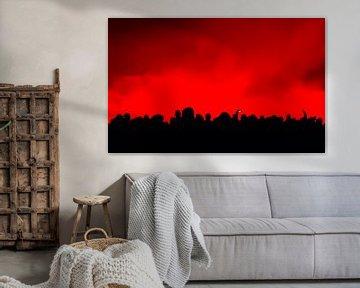 schwarz rot von Evert Jan Heijnen