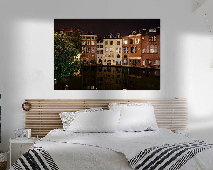 Beispiel: Oudegracht in Utrecht ter hoogte van de Lijnmarkt von Donker Utrecht