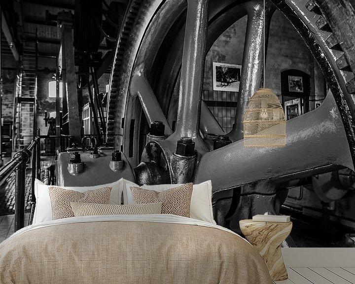 Sfeerimpressie behang: stoommachine industrie fabriek van Martin Albers Photography
