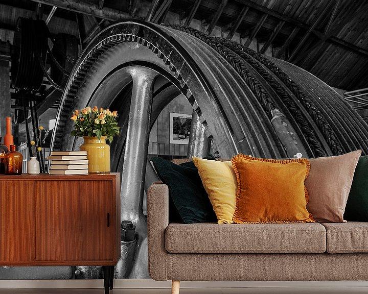 Sfeerimpressie behang: stoommachine industrie fabriek 2 van Martin Albers Photography