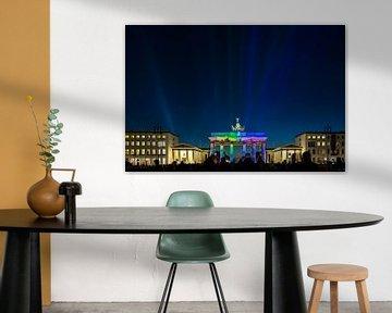 Berlin Skyline - projection sur la Porte de Brandebourg