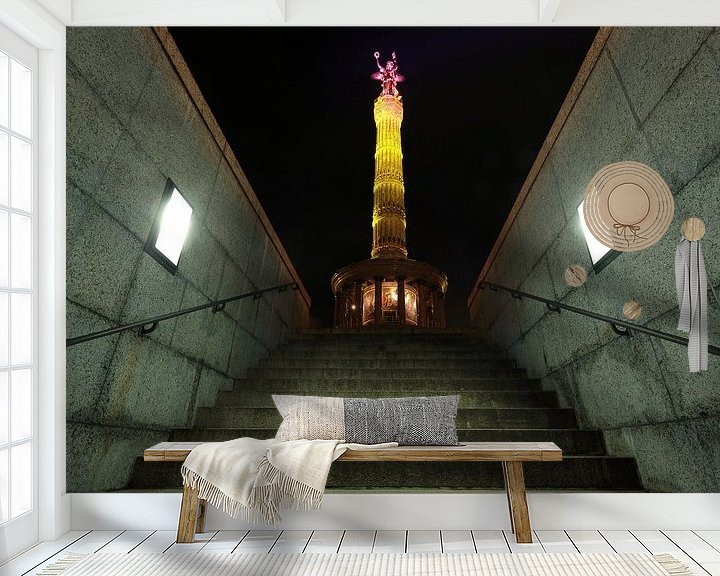 Impression: La colonne de la victoire de Berlin sous un éclairage particulier sur Frank Herrmann
