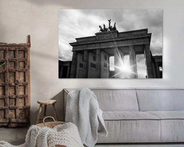 Sfeerimpressie: Zonsondergang bij de Brandenburger Tor van Frank Herrmann