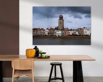 Stadsgezicht: Deventer vanaf het water van Elles van der Veen