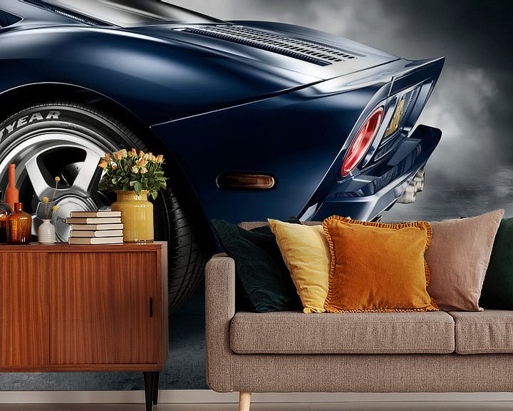Sfeerimpressie behang: 2006 Ford GT '101 Edition GT40 van Thomas Boudewijn