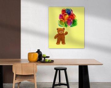 Teddybär mit Luftballons von Maurice Dawson