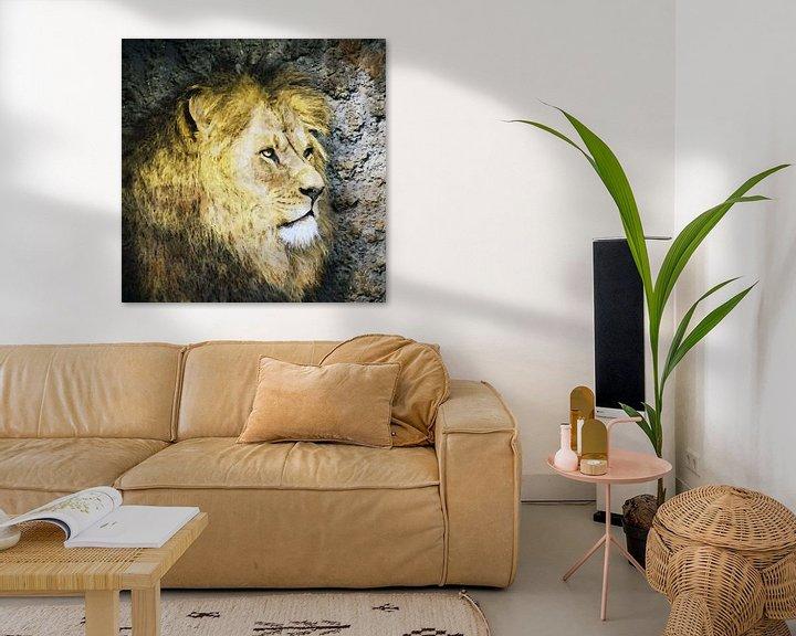 Beispiel: Löwe-Kunstwerk von Peter Bolman