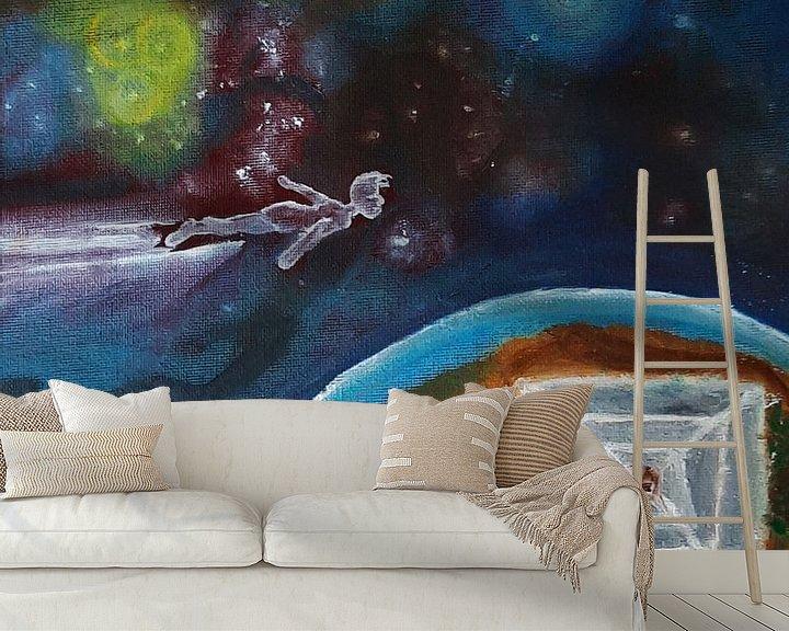 Beispiel fototapete: Kosmische Malerei, Ölgemälde, Exo-Planet von Celine Seelemann