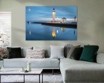 Der Leuchtturm von der Festungsstadt Hellevoetsluis von Miranda van Hulst