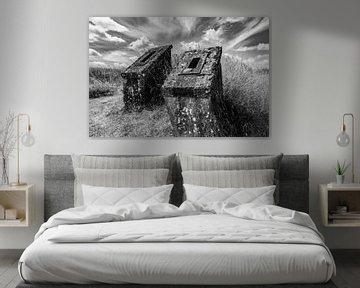 Schloss Frankreich (schwarz-weiß)