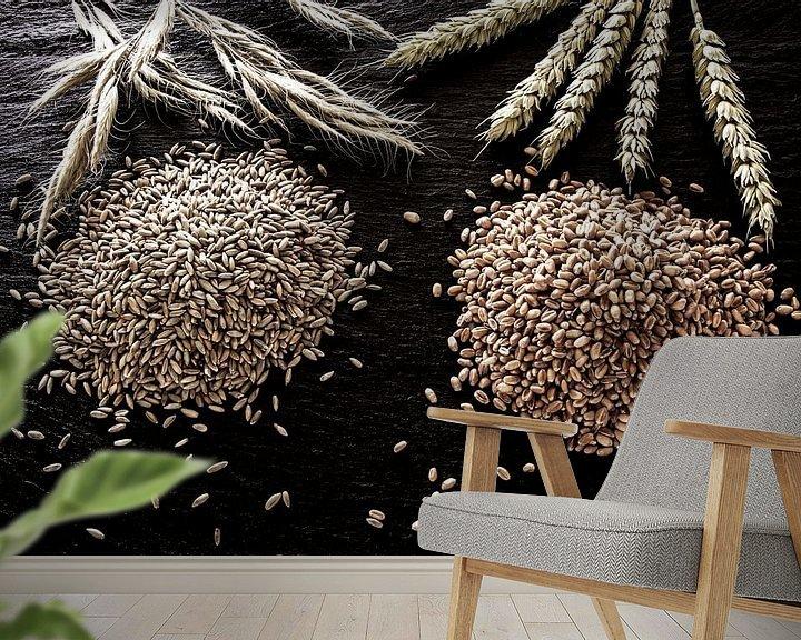 Sfeerimpressie behang: Granen van Jürgen Wiesler