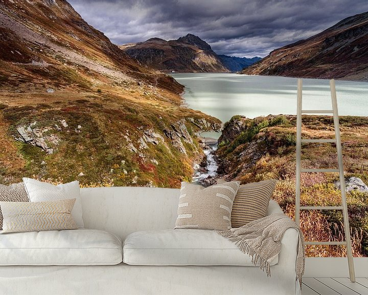Sfeerimpressie behang: Silvretta meer van Rob Boon