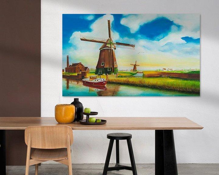 Beispiel: Mühlen Niederlande von David Soekana