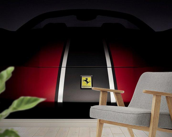 Sfeerimpressie behang: Ferrari 488 Spider van Thomas Boudewijn