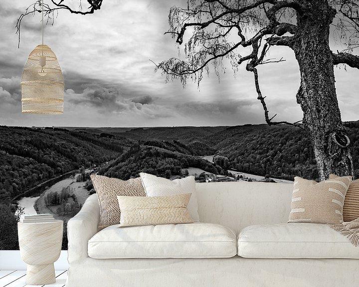 Sfeerimpressie behang: Idyllisch dorp in de Ardennen van Ton de Koning