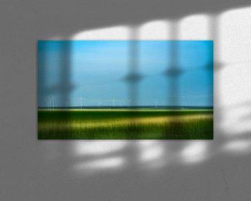 Windmolen in Flevoland van Annemarie Hoogwoud
